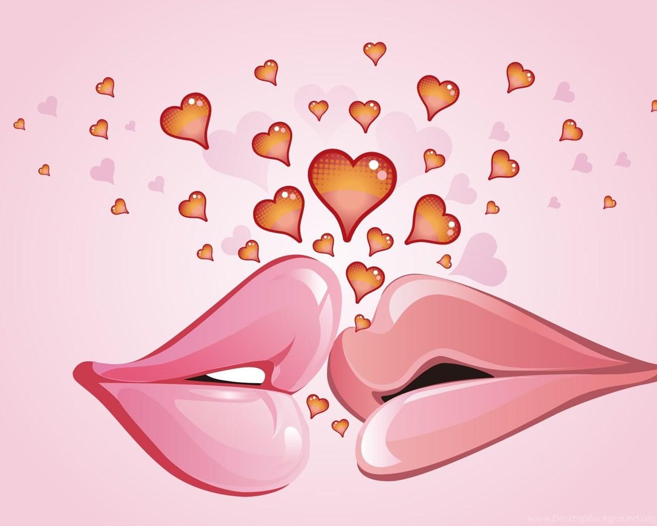 happy kiss day lips kiss wallpapers desktop background
