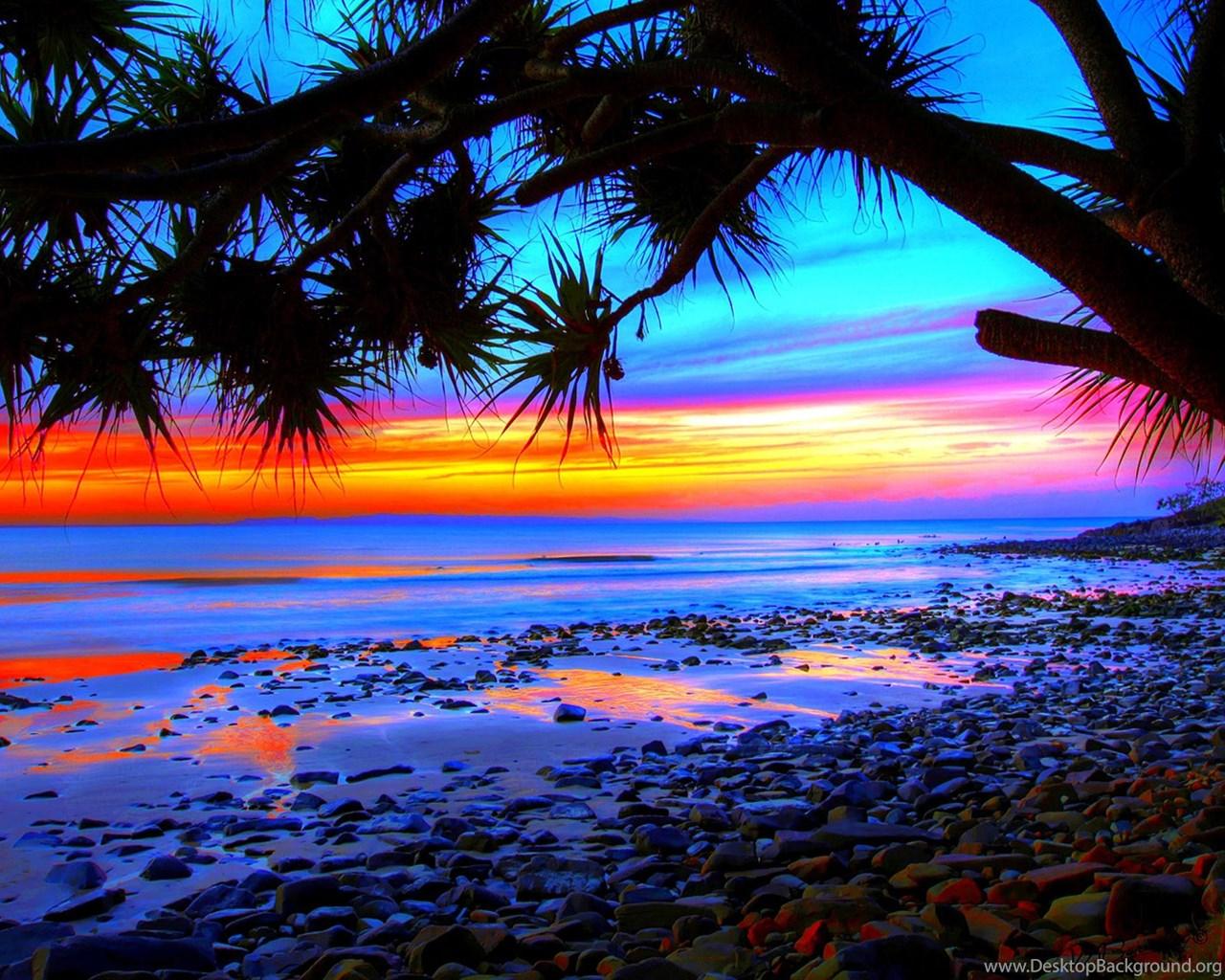 Hd Tropical Island Beach Paradise Wallpapers And Backgrounds: Tropical Beach Sunset Wallpapers 09, HD Desktop Wallpapers