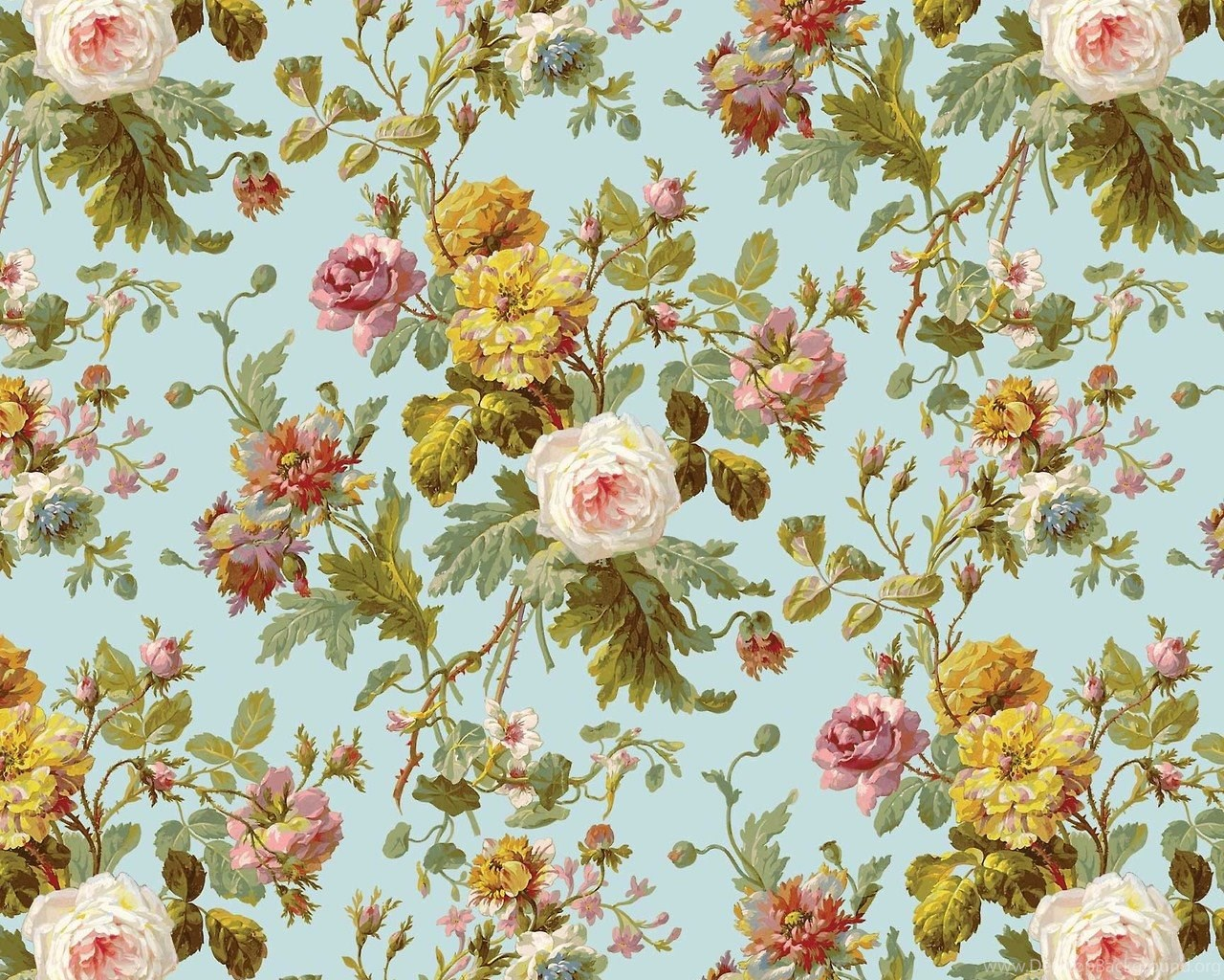 Wallpapers Antique Floral Vintage Pattern Tumblr 595148 8