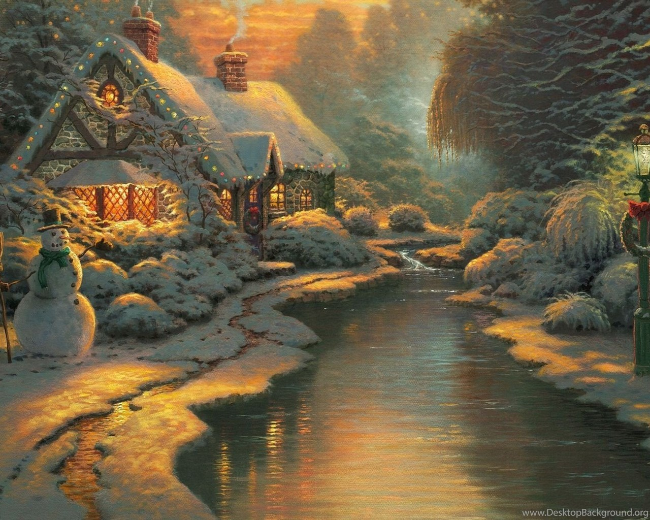 Download Thomas Kinkade Winter Wallpapers 1080p Desktop