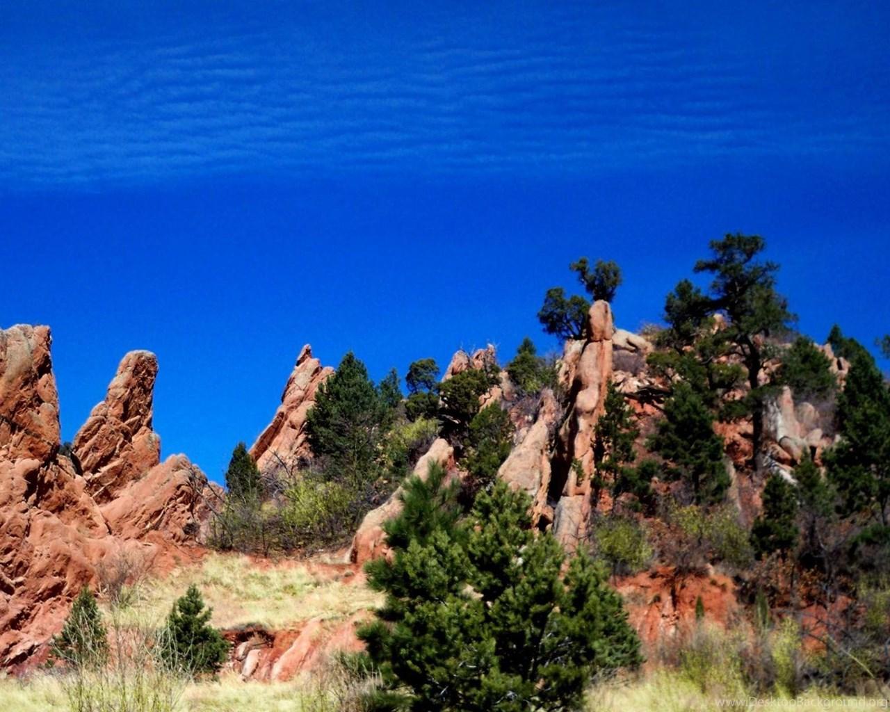 Garden Of The Gods Colorado Springs Wallpaper Desktop Background