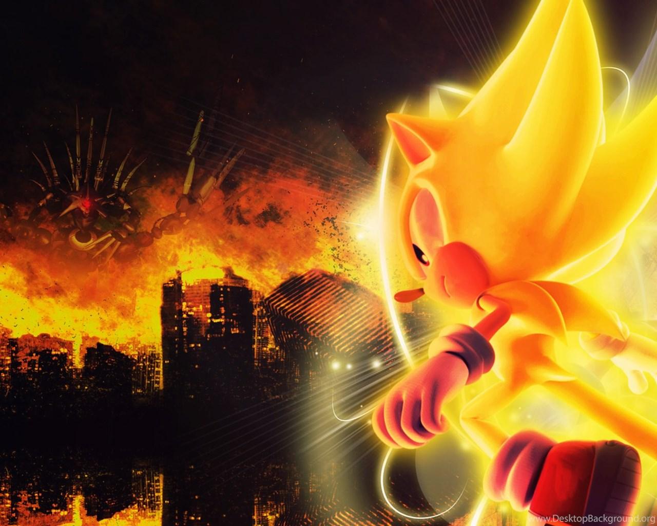 download super sonic wallpaper images desktop background