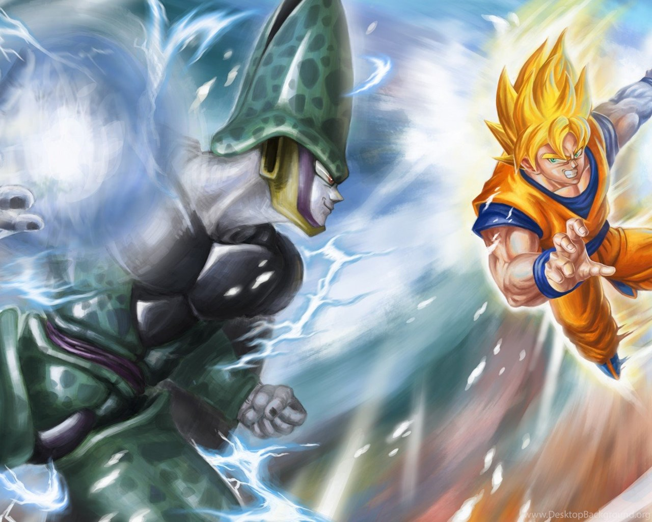 HD Goku Vs Cell Dragon Ball Z HD 1080p Wallpapers Full
