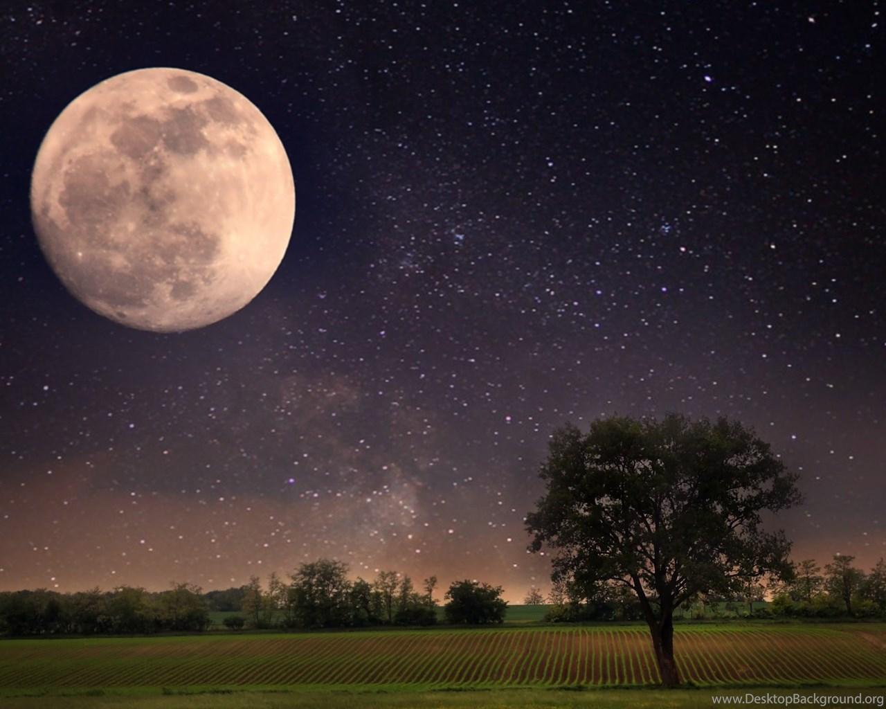 Moon night scene wallpapers 4k 4096x2160 resolution wallpapers desktop background - 4096x2160 wallpaper ...