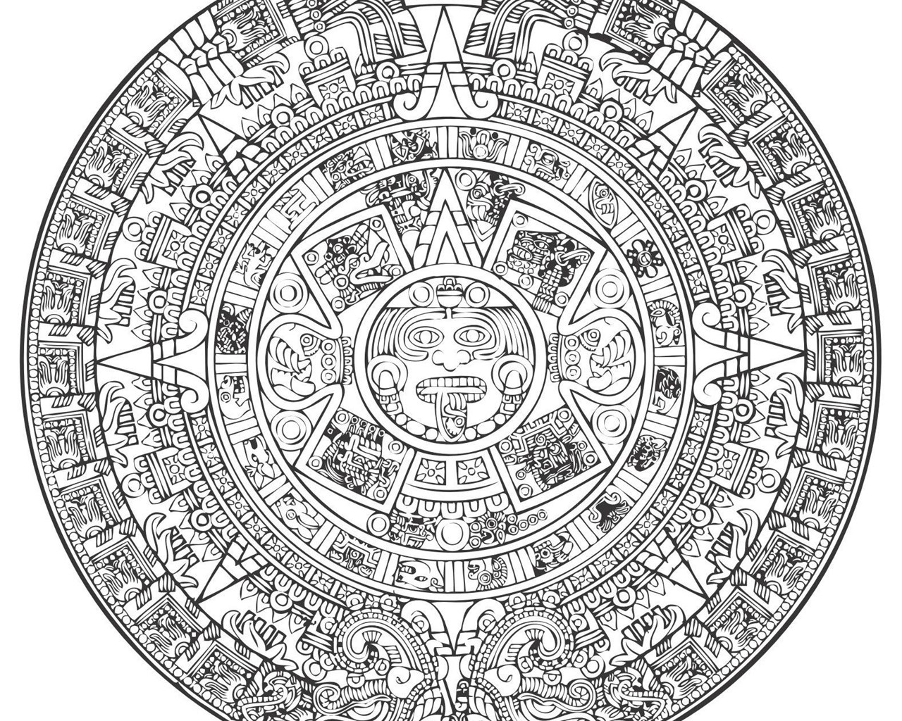 Aztec Calendar Vector ...