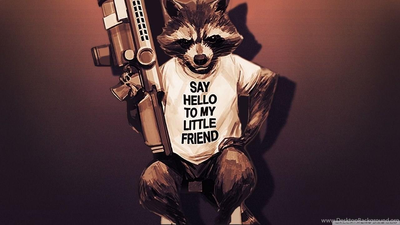 Rocket Raccoon Guardians Of The Galaxy 2 Hd Desktop Wallpapers