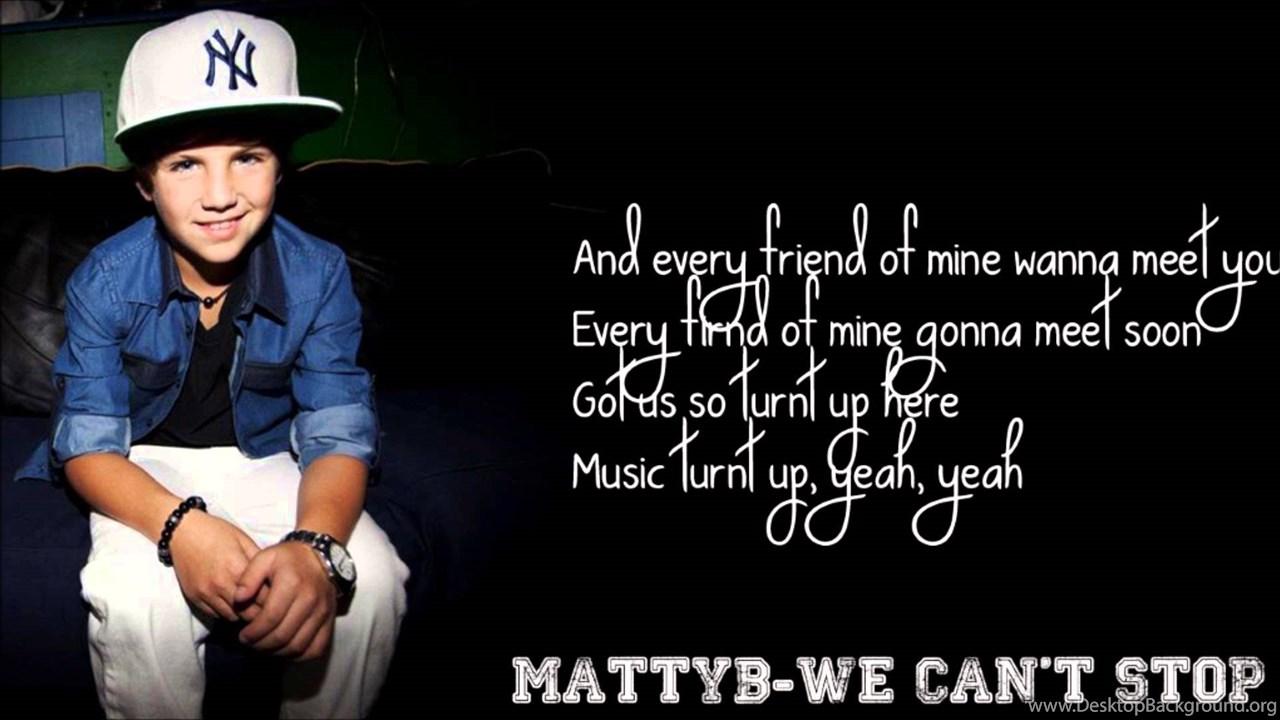 We Cant Stop MattyBRaps Cover Lyrics YouTube Desktop Background