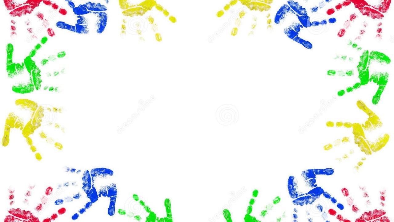 kids hands frame ppt backgrounds template for presentation ppt