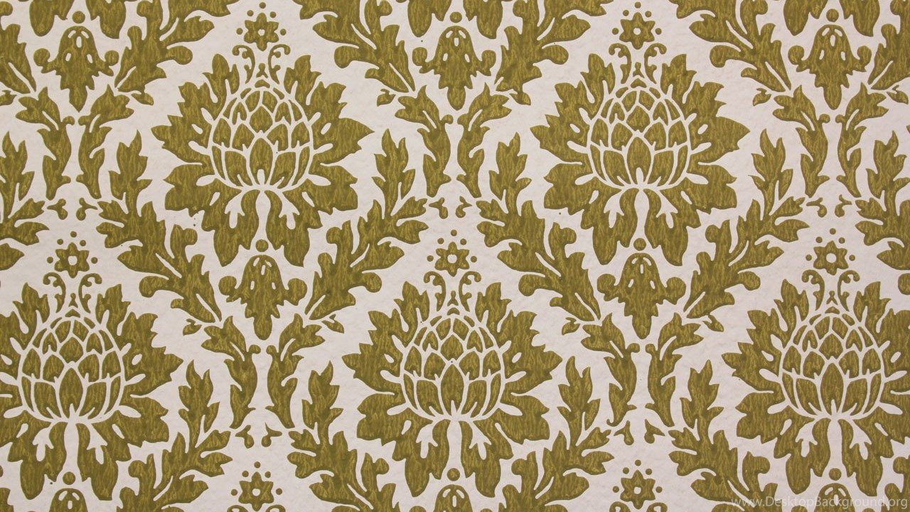 1960 S Vintage Wallpapers Green Damask Design Rosie S Vintage