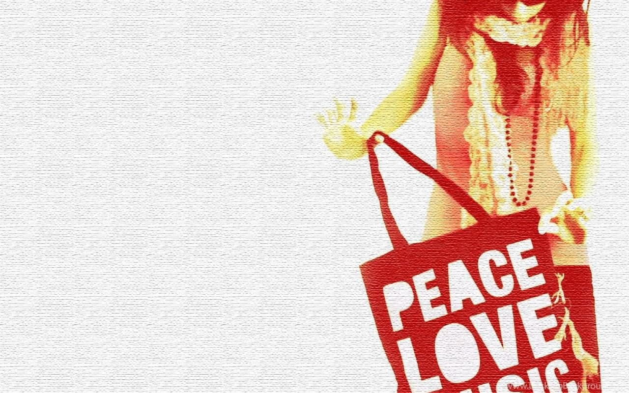 Peace Love Music Graphic Design Girl Wallpapers Desktop