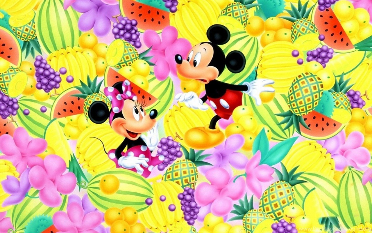 Cartoons disney company fruits mickey mouse minnie mouse - Ostern wallpaper ...