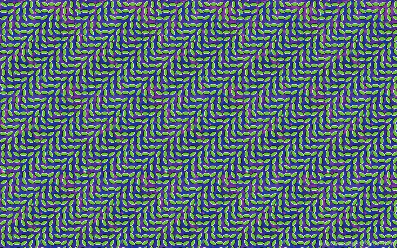 Optical Illusion Pattern Abstract Leaves Animal Collective
