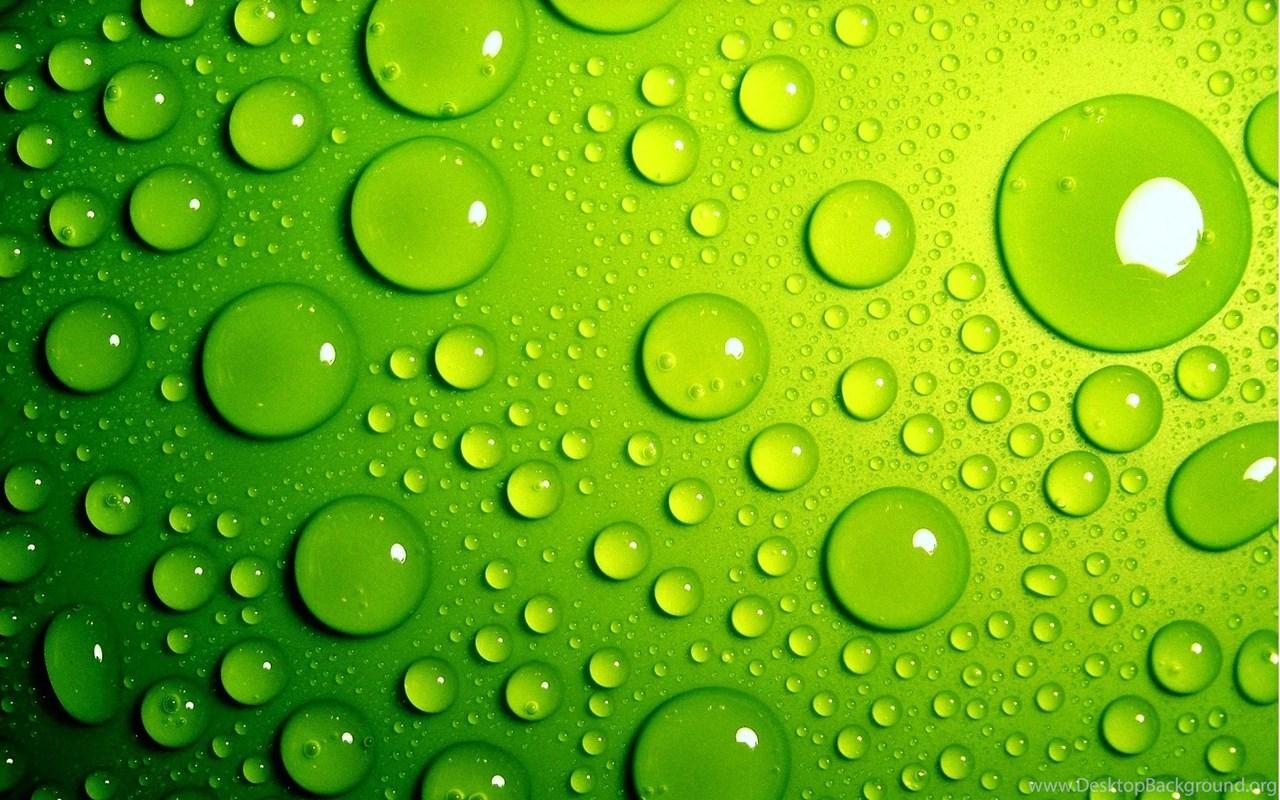 wallpaper green bubbles 3d water drop hd beautiful