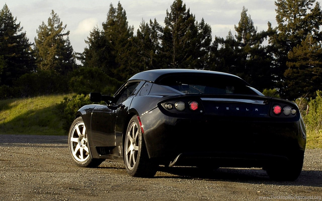 Photo Tesla Roadster Wallpapers Desktop Background