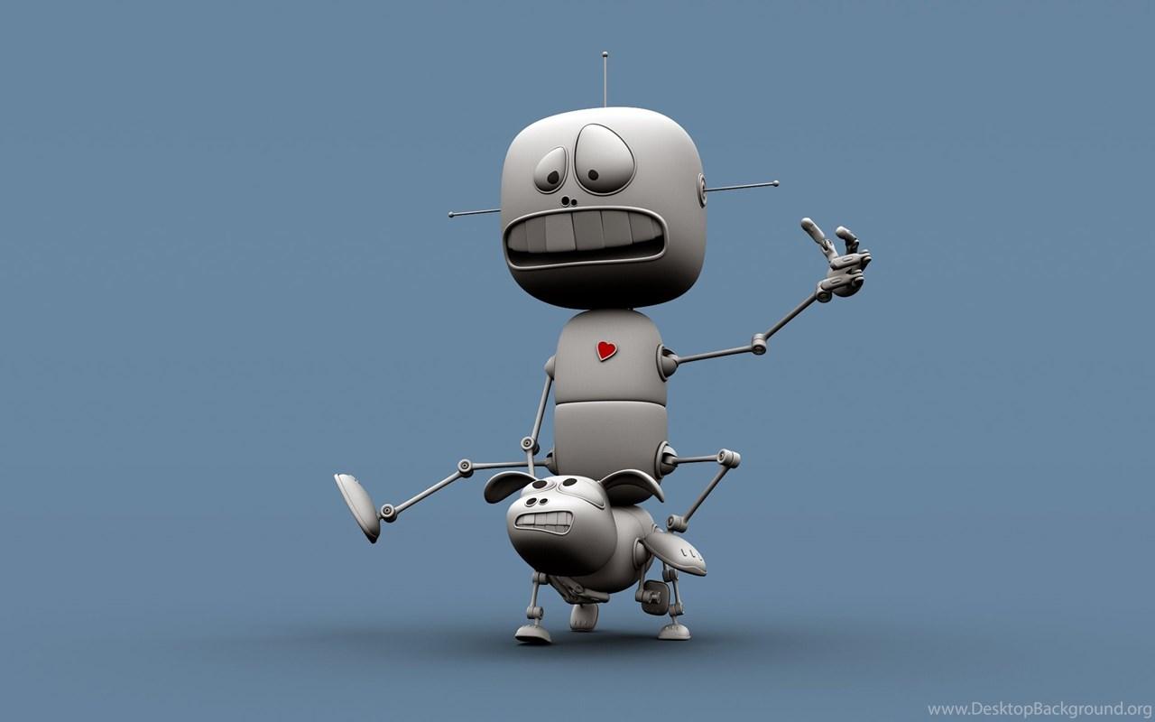 3d retro robot desktop wallpapers desktop desktop background - Robot wallpaper 3d ...