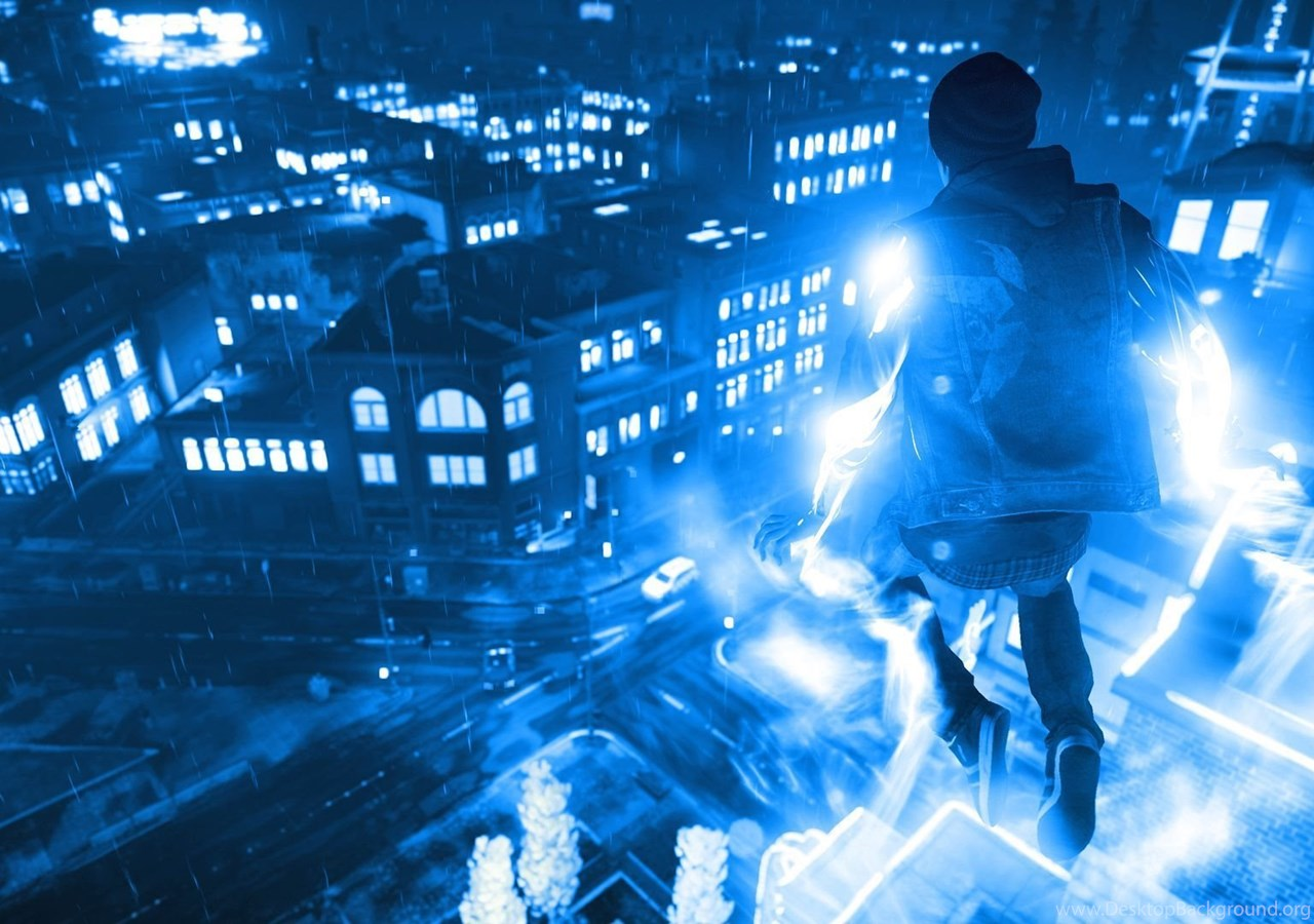 Infamous Second Son Blue Neon Wallpapers 15 By Xtremismaster On
