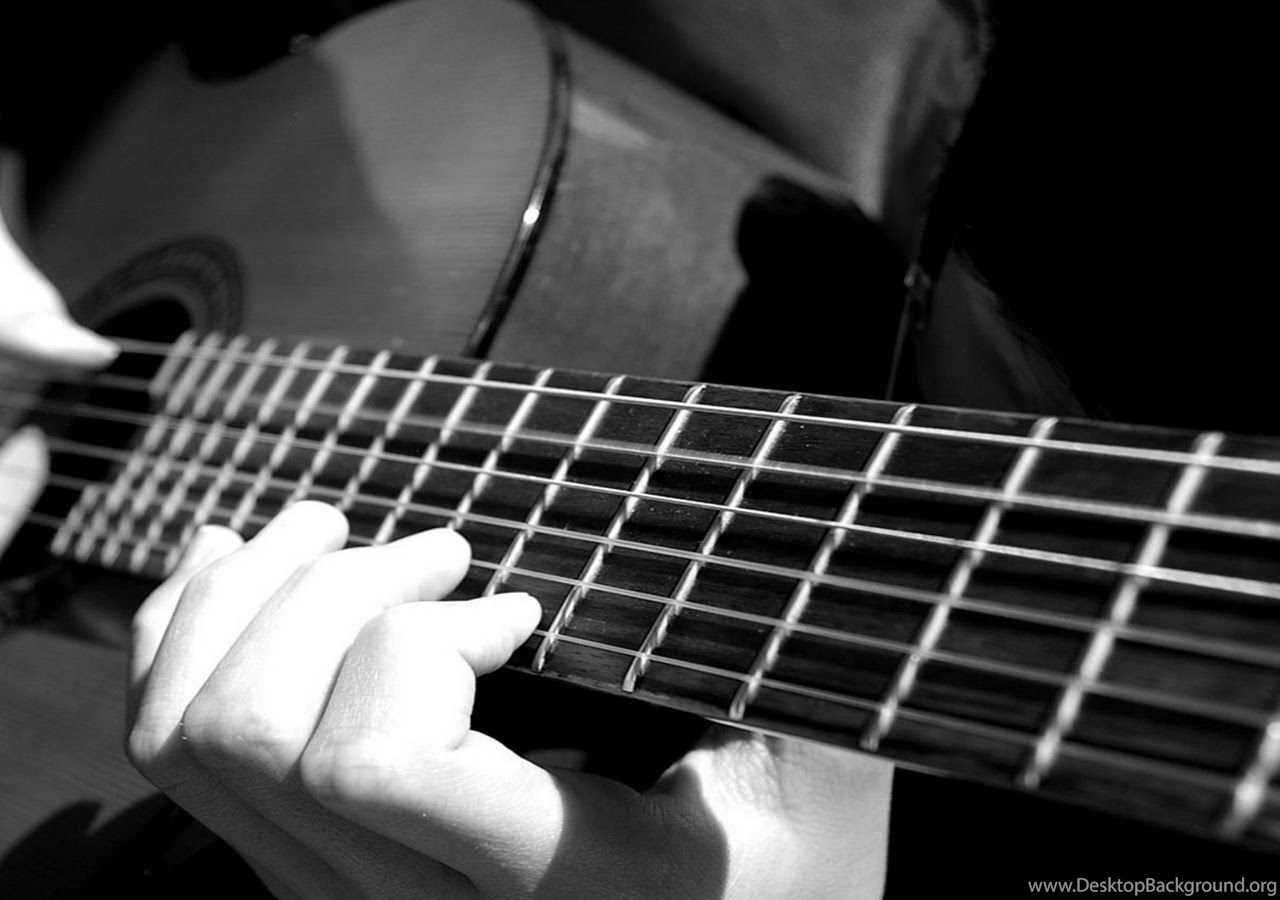 Acoustic Guitar Wallpaper Black And White Black And White Wallpaper Music 6 Jpg Desktop Background