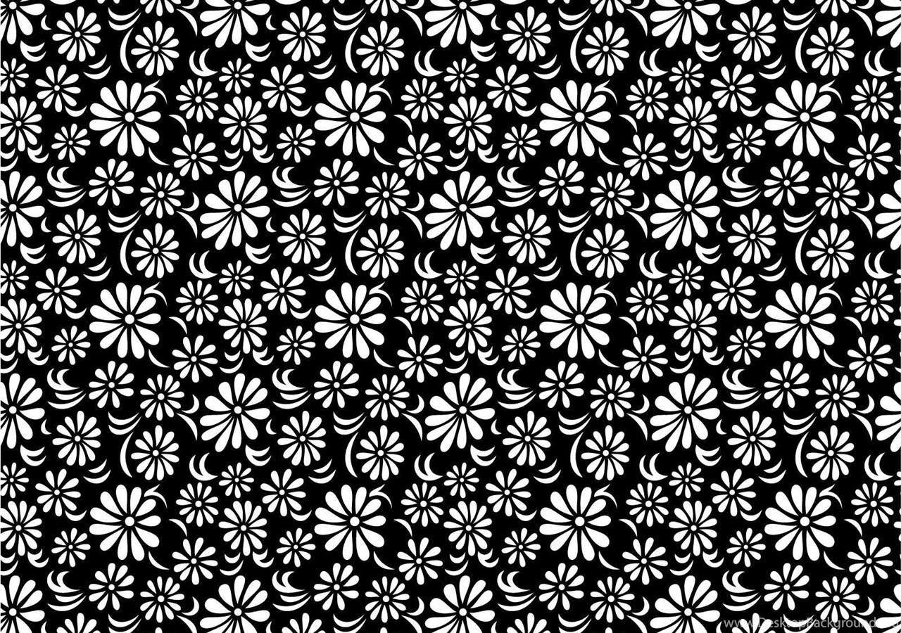 Black White Floral Backgrounds Black Flowers White Ppt
