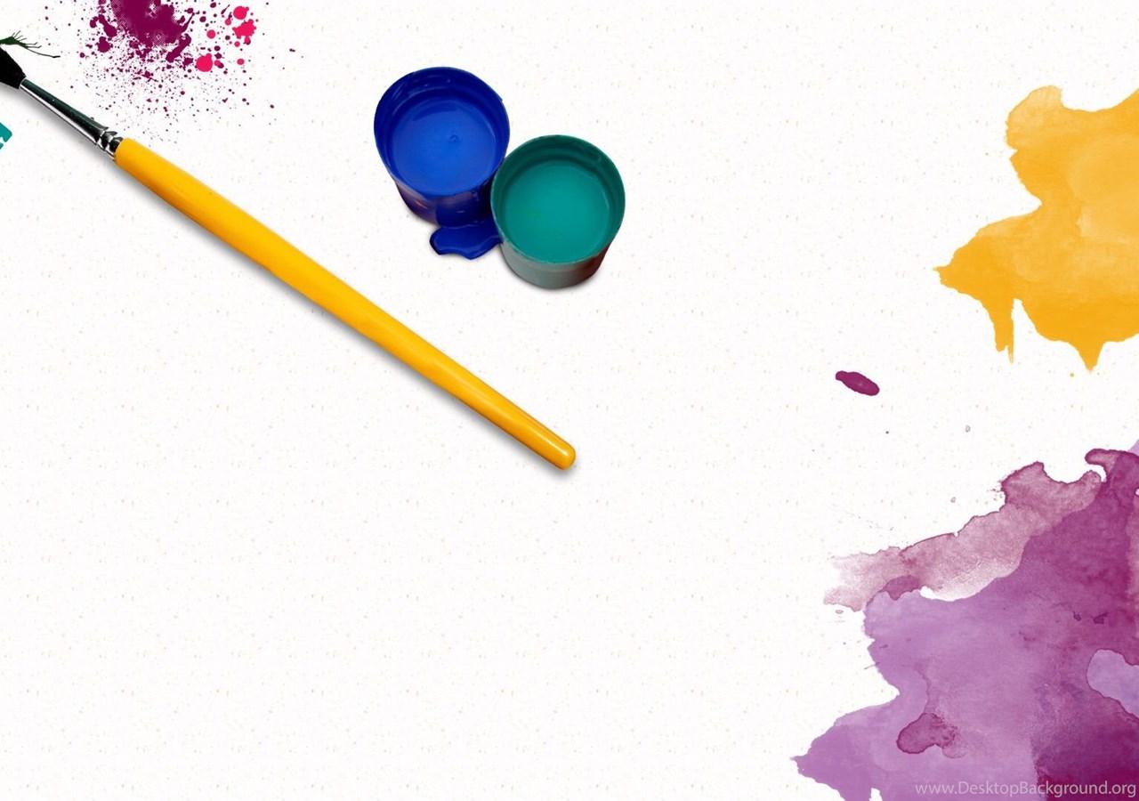 оставшиеся волосы кисточки и краски картинки для презентации проектирование