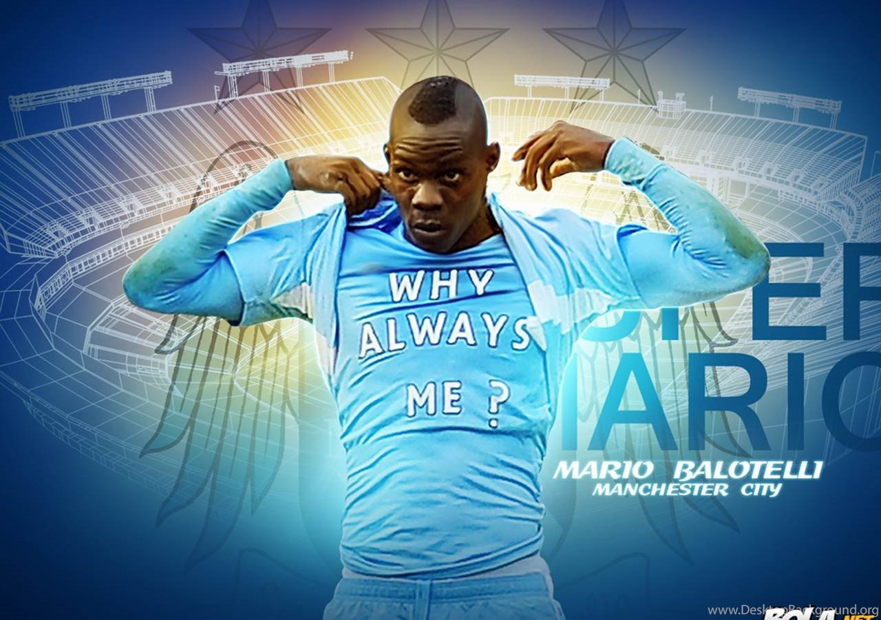 hot sale online a183d 94b3d Mario Balotelli Manchester City Desktop Background