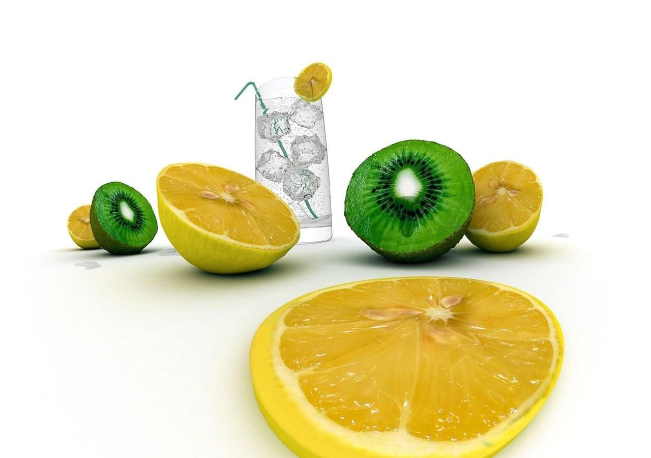 Дольки лимона в стакане  № 3698235 загрузить