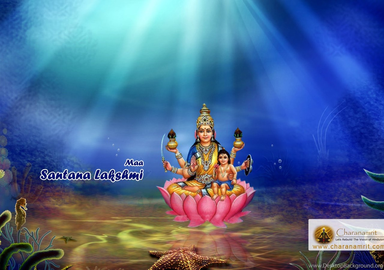 Sri Maa Santana Lakshmi Devi Beautiful Hd Wallpapers For Free Desktop Background