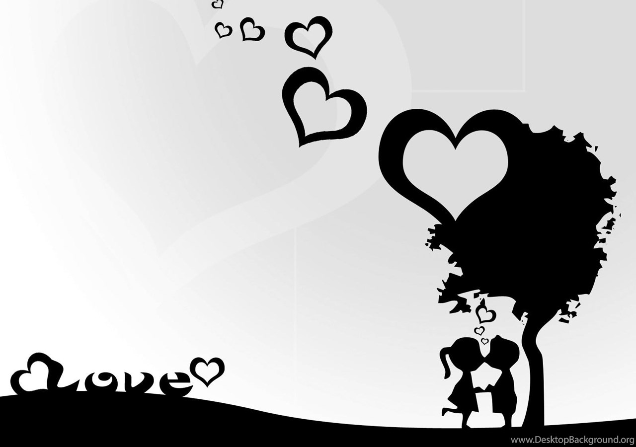 Love Black And White Sweet Cute Love Wallpaper Black And White Desktop Background