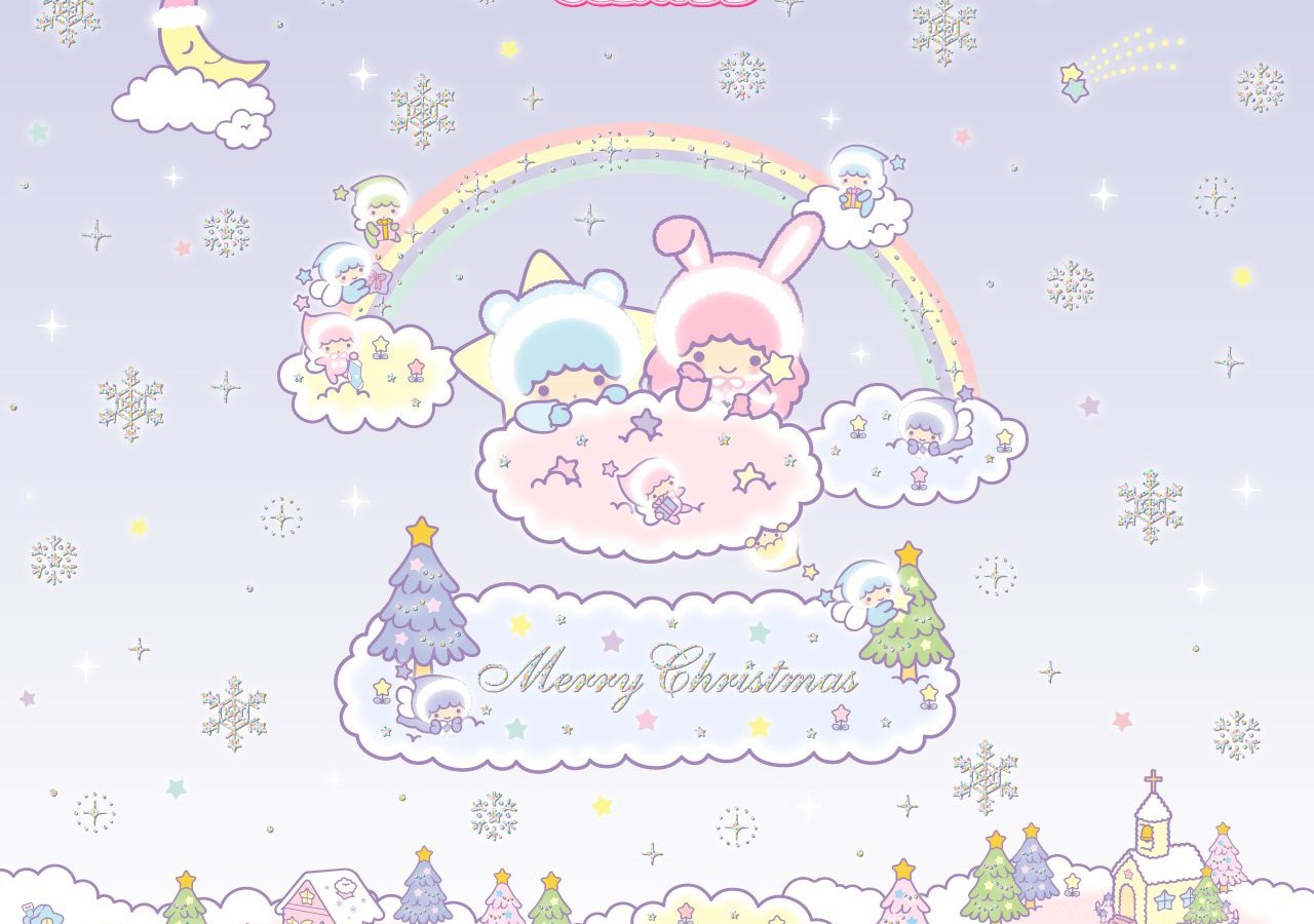 Sanrio Little Twins Stars Christmas Wallpapers Cute · Kawaii ...