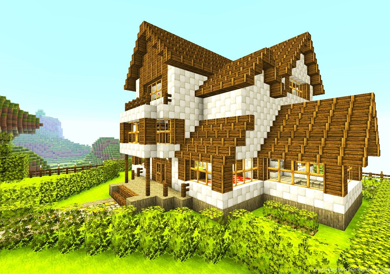 Красивый дома в майнкрафт по картинкам