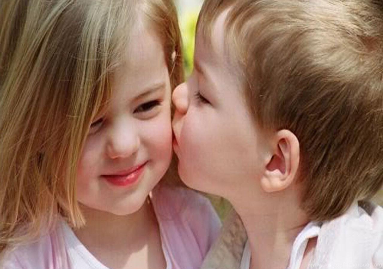 Картинки с поцелуями мальчика и девочки