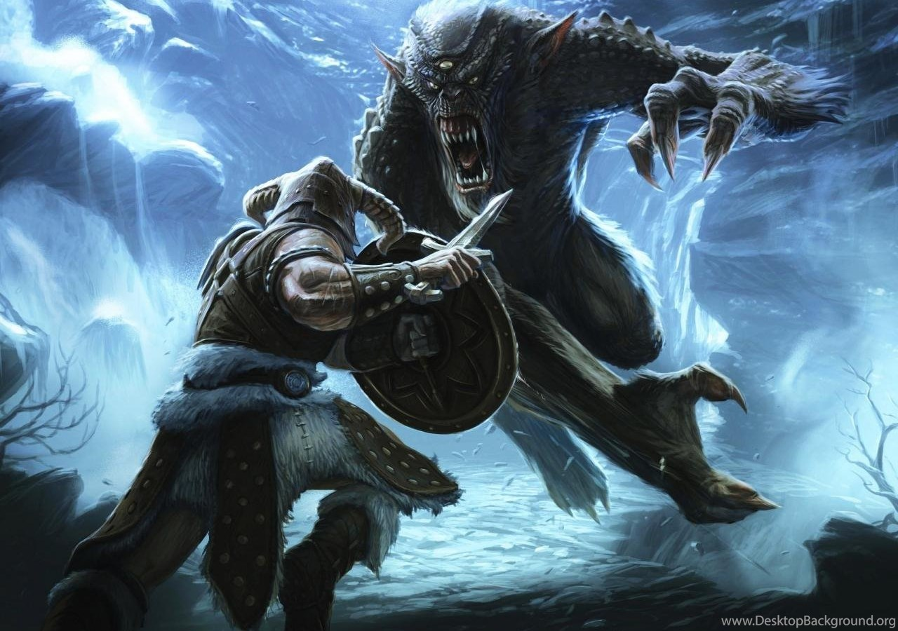 Wallpapers Werewolf Skyrim Elder Scrolls Monster Hd 1280x960