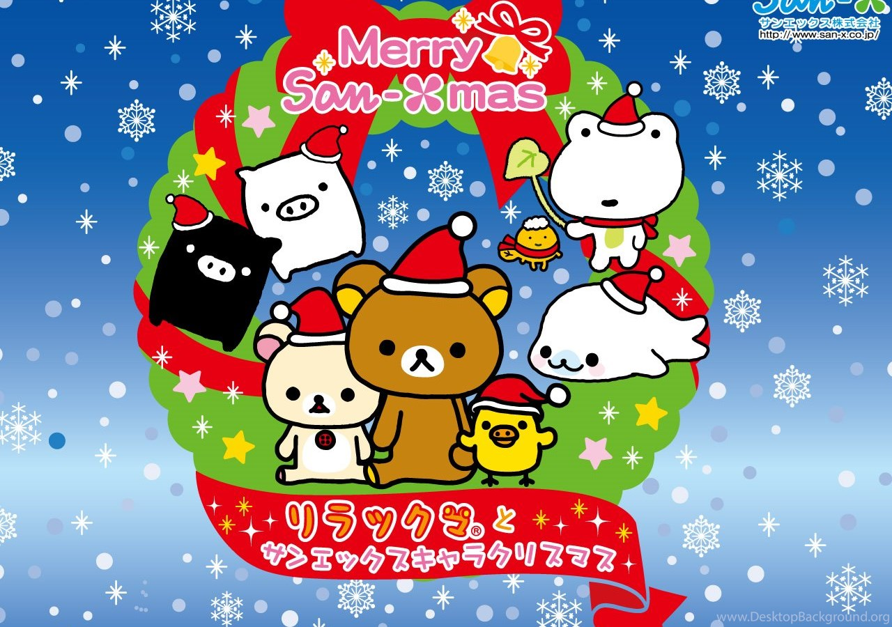 Kawaii Christmas Wallpapers From San X Cute Wallpapers Desktop ...