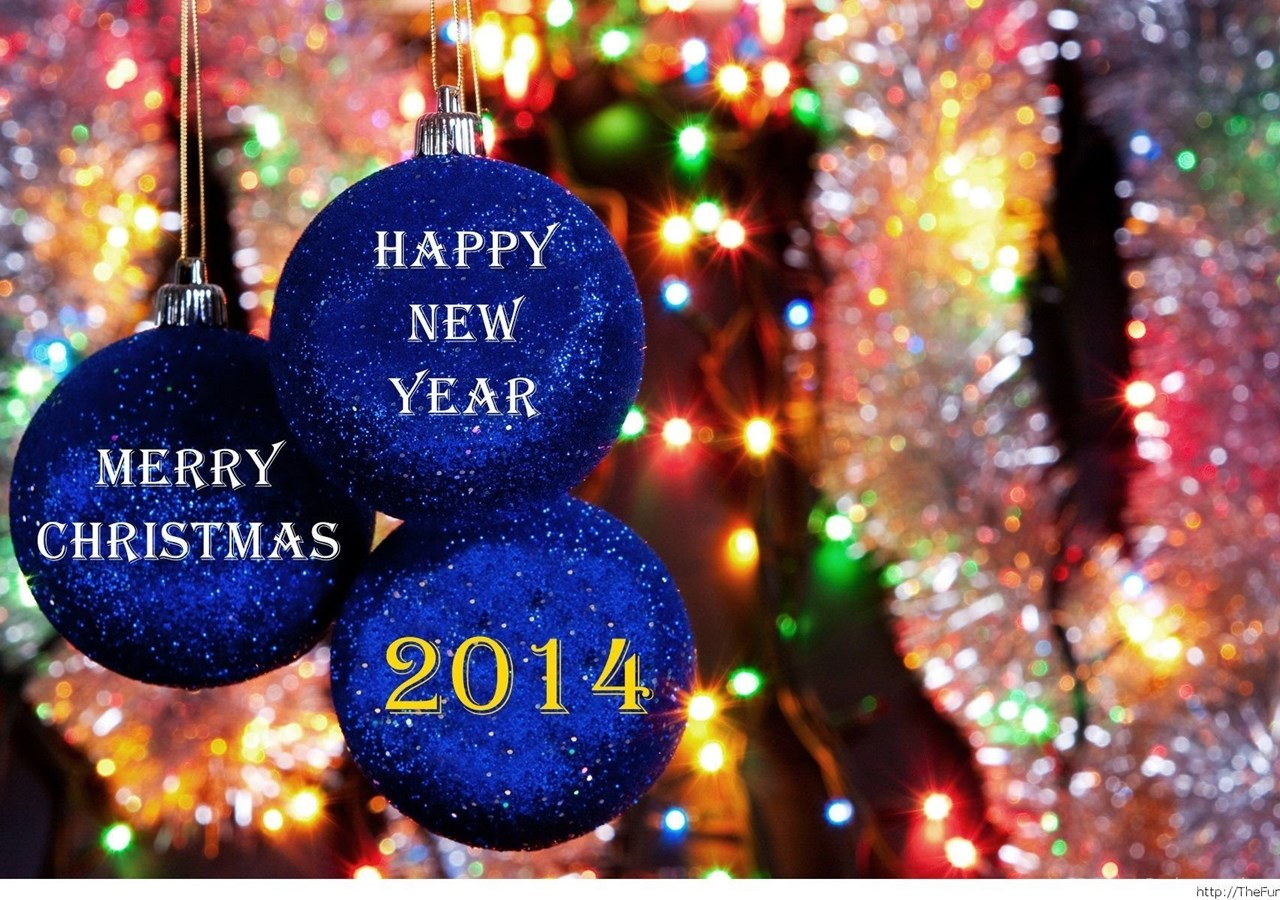 merry christmas and happy new year 2014 hd wallpapers