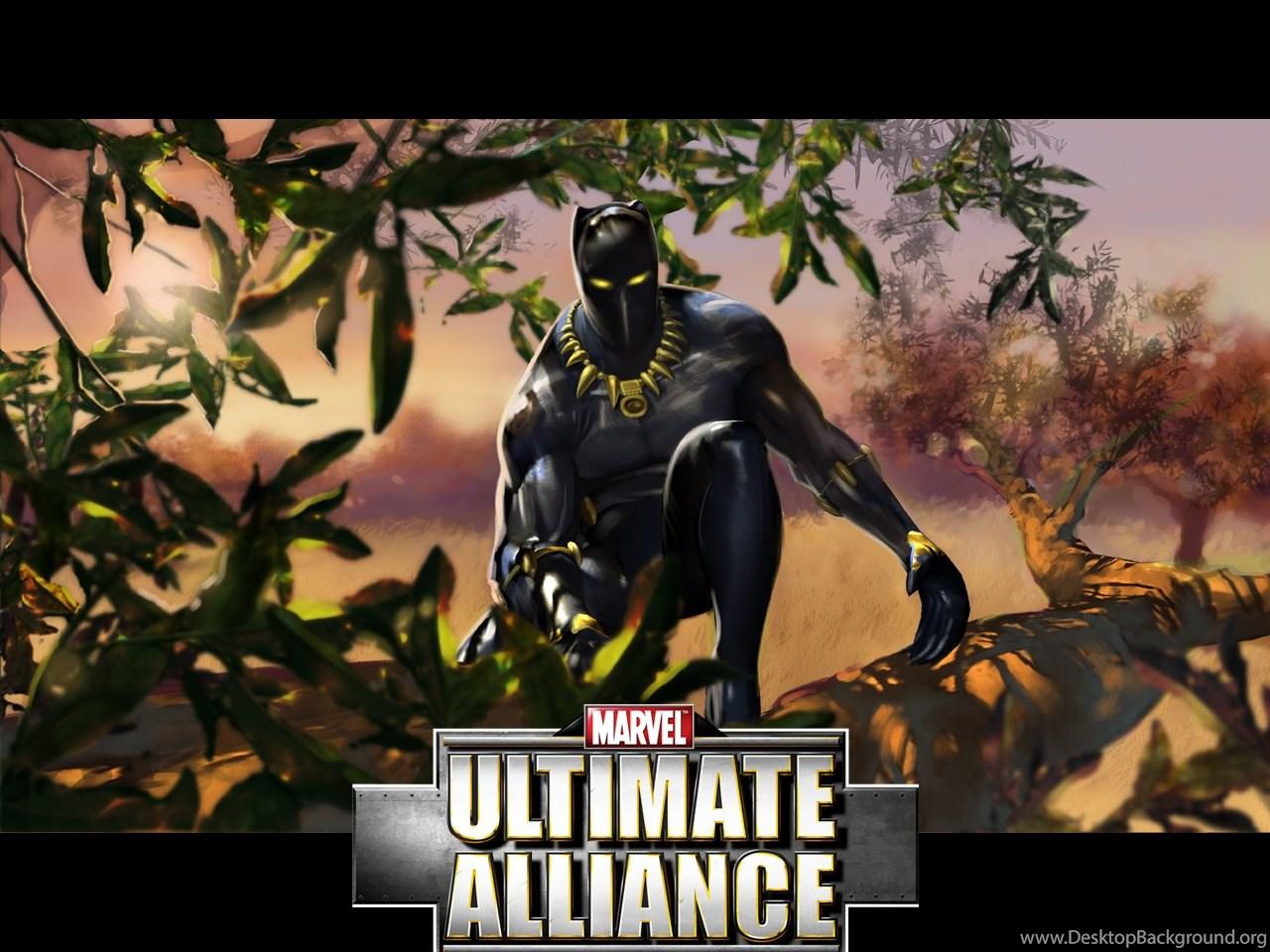 Black Panther Marvel Ultimate Alliance Wallpapers Desktop Background