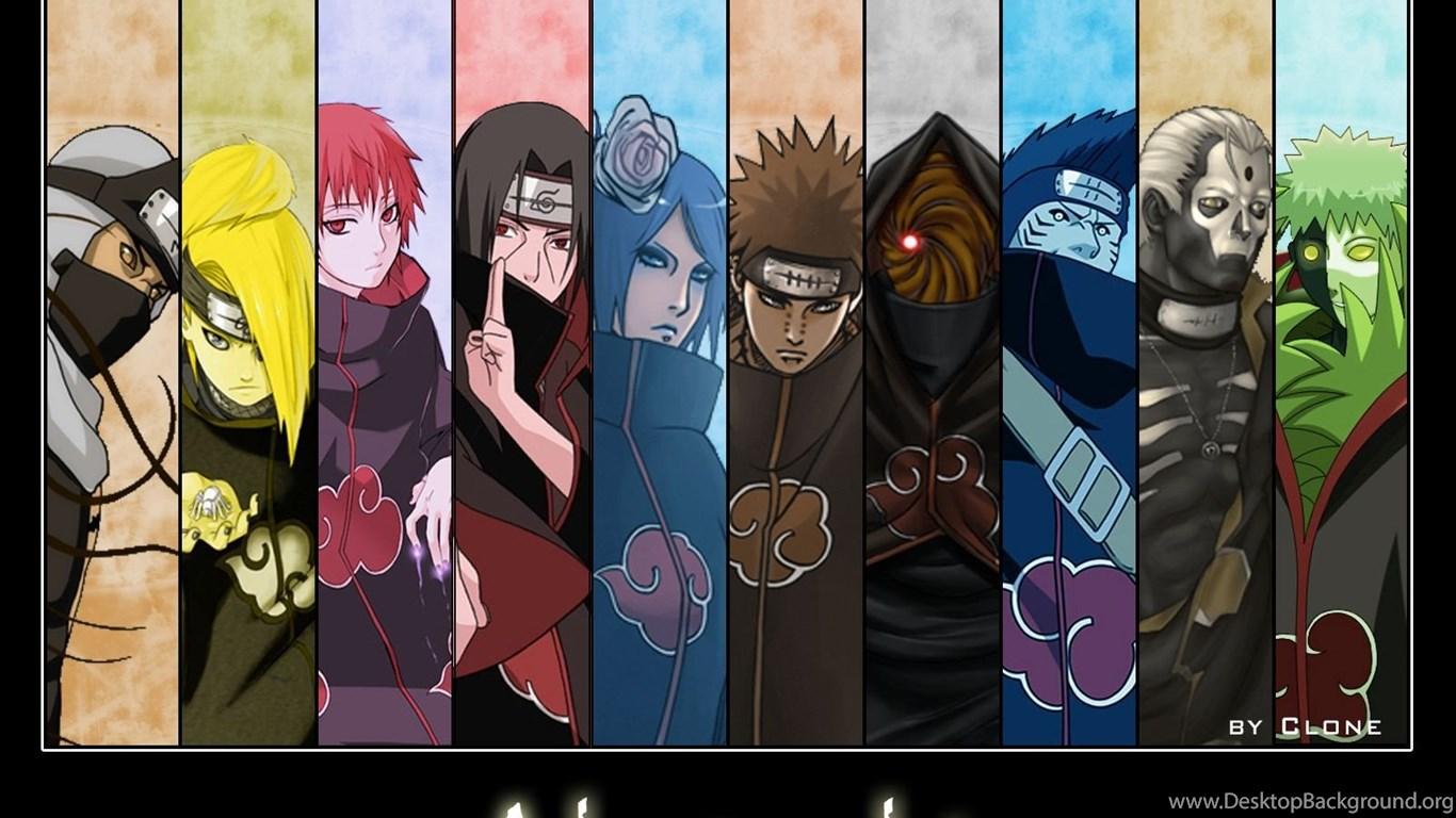 Naruto Shippuden Akatsuki Hd Desktop Wallpapers Desktop Background