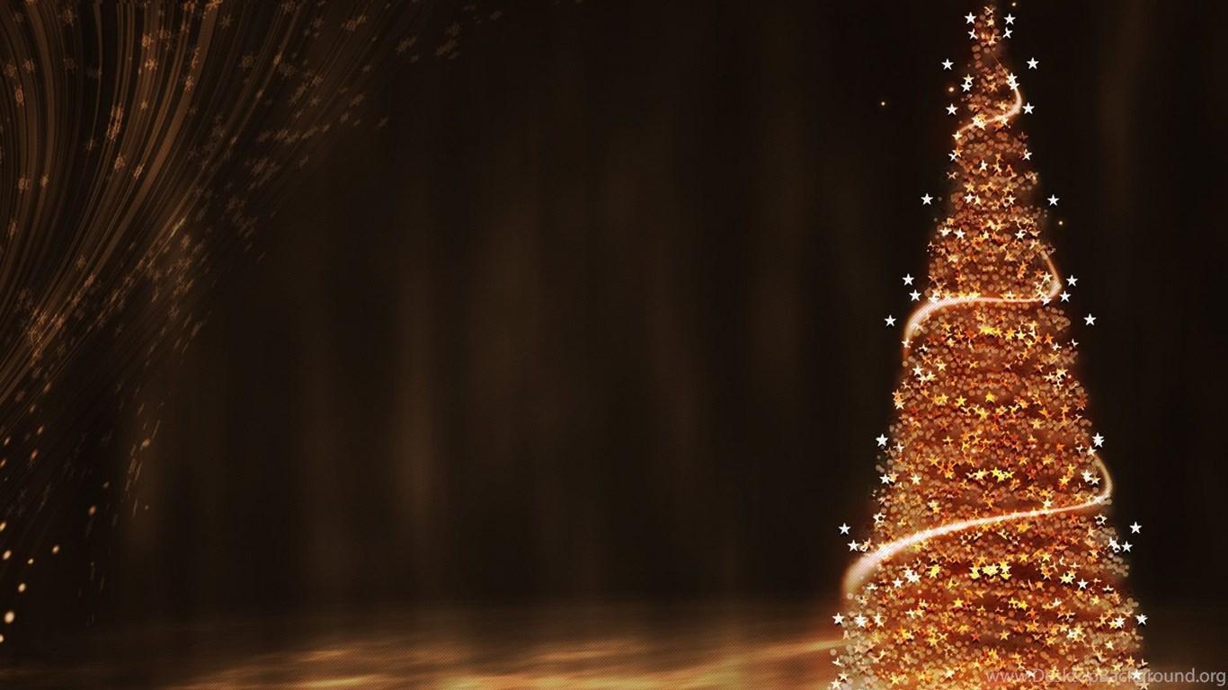 Gold Christmas Tree Wallpapers Desktop Background