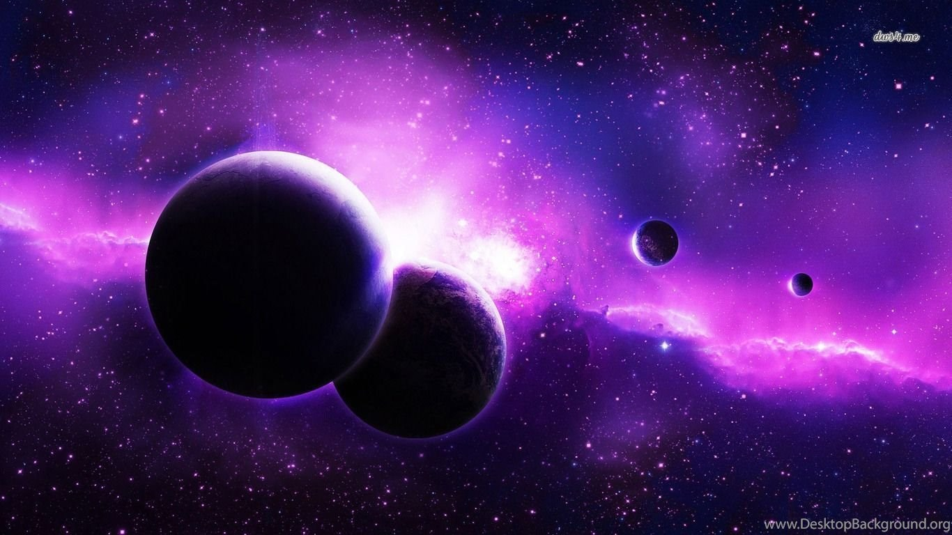 Download Wallpaper 2780x2780 Planet Galaxy Universe: Planets In The Purple Galaxy Wallpapers Space Wallpapers