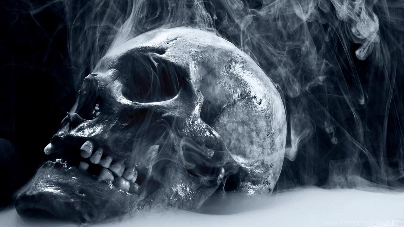 Scary frozen skull wallpapers hd desktop background - Scary skull backgrounds ...