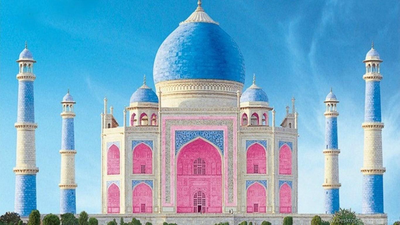 Image Of Taj Mahal Free Download: Download Free Taj Mahal Colourful Image In HD Desktop
