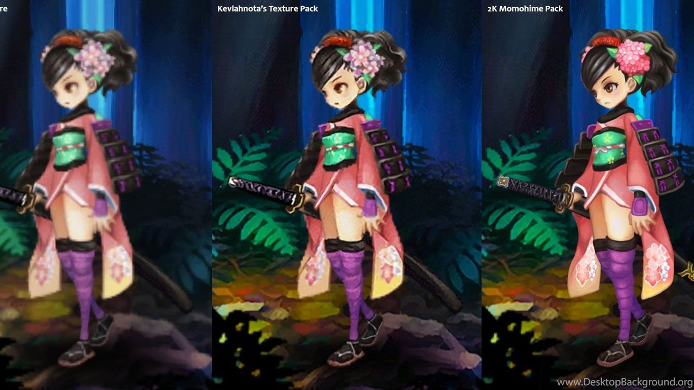 Muramasa The Demon Blade 2k Momohime Texture Pack Desktop Background