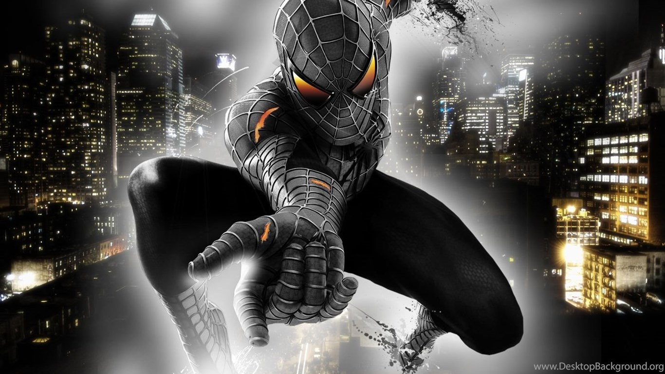 black spiderman wallpapers widescreen hd wallpapers