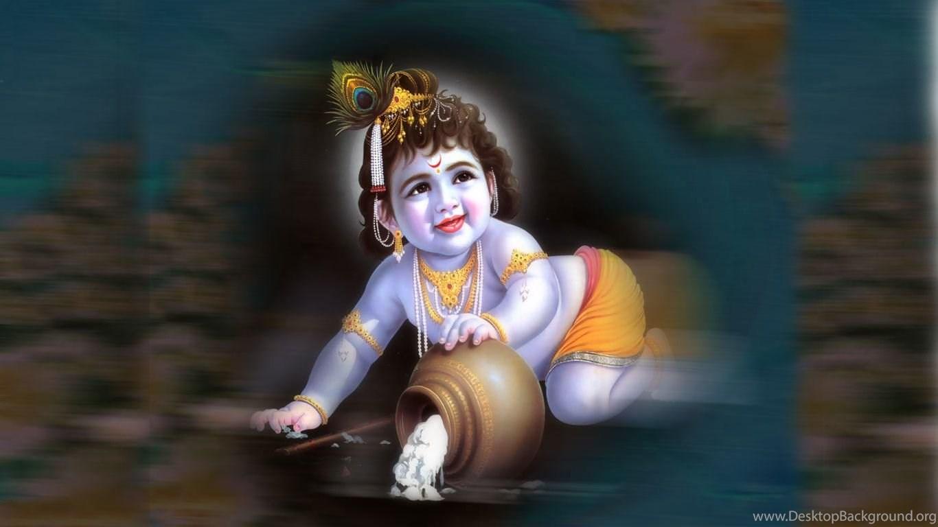 Wallpapers Shri Krishna God Sacred Lord Hd 1366x768 ...