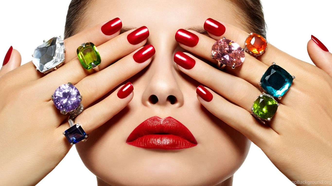 Beautifull Ladies With Red Nail Art Wallpapers My Free Wallpapers ...