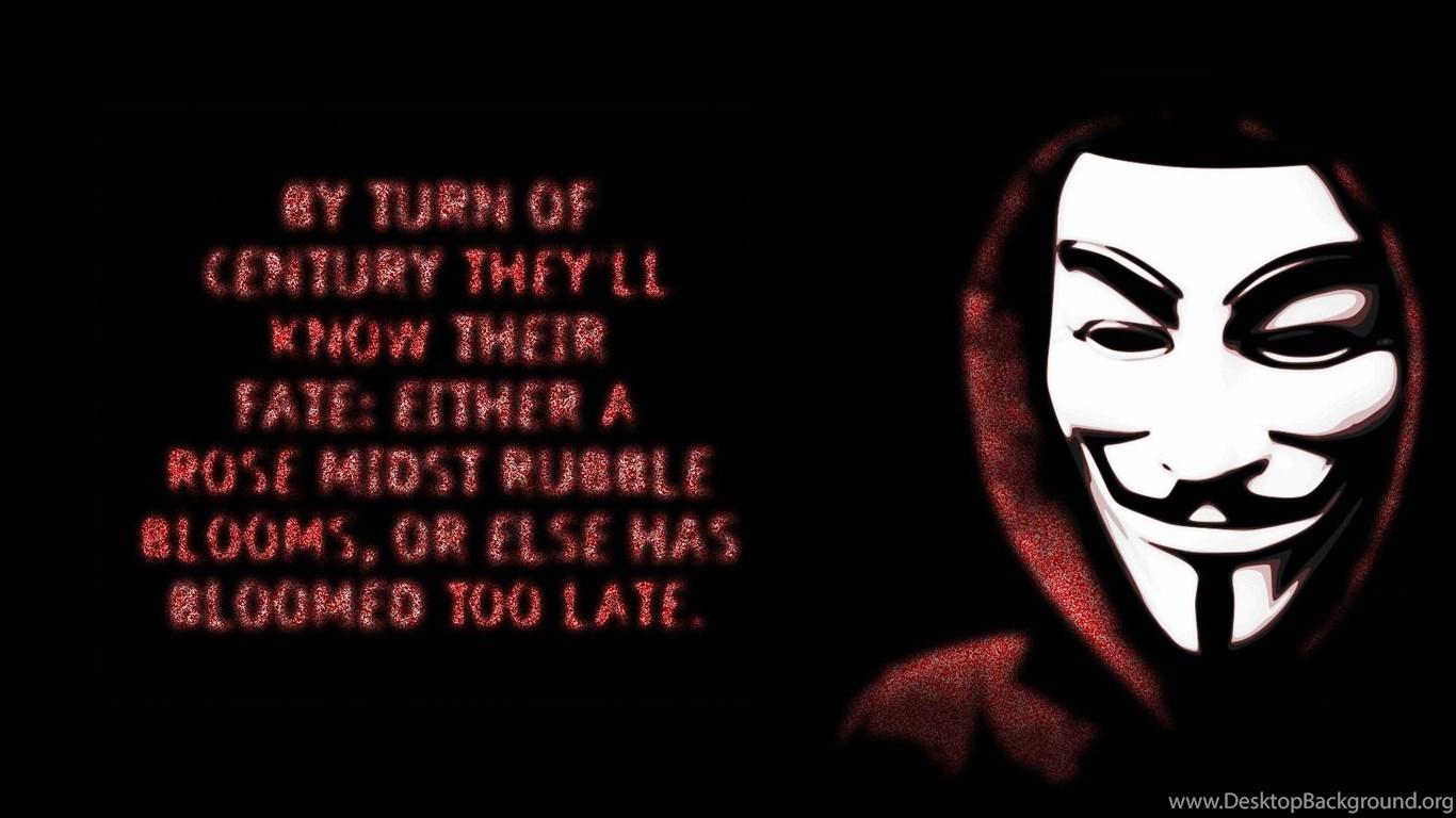 V For Vendetta Wallpapers Quotes QuotesGram Desktop Background