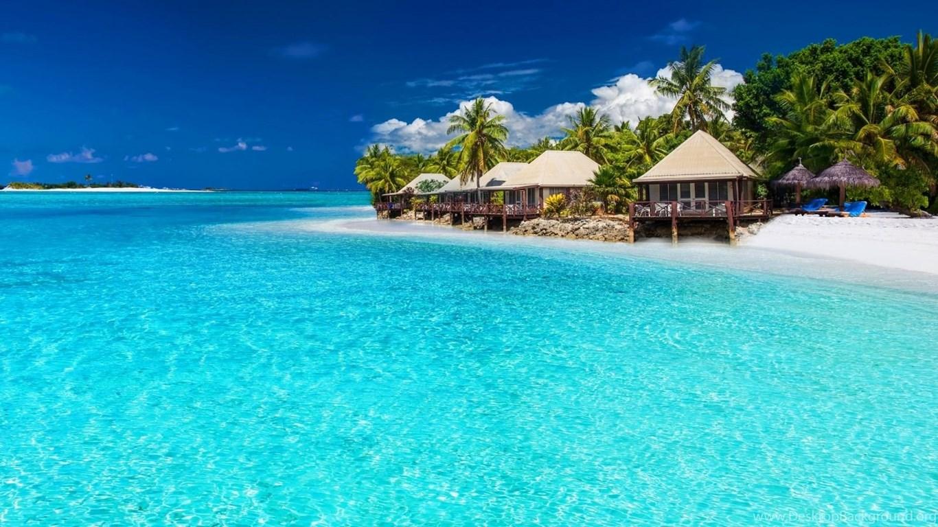 1600x900 Tropical Beach Paradise Hd Wallpapers Desktop ...