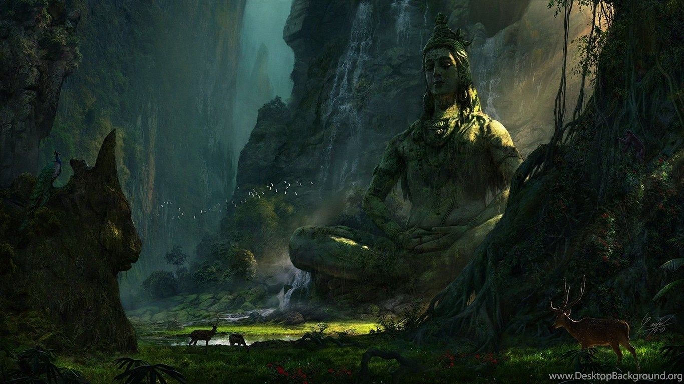 Unexplored Ruins (Lord Shiva). : Wallpapers Desktop Background