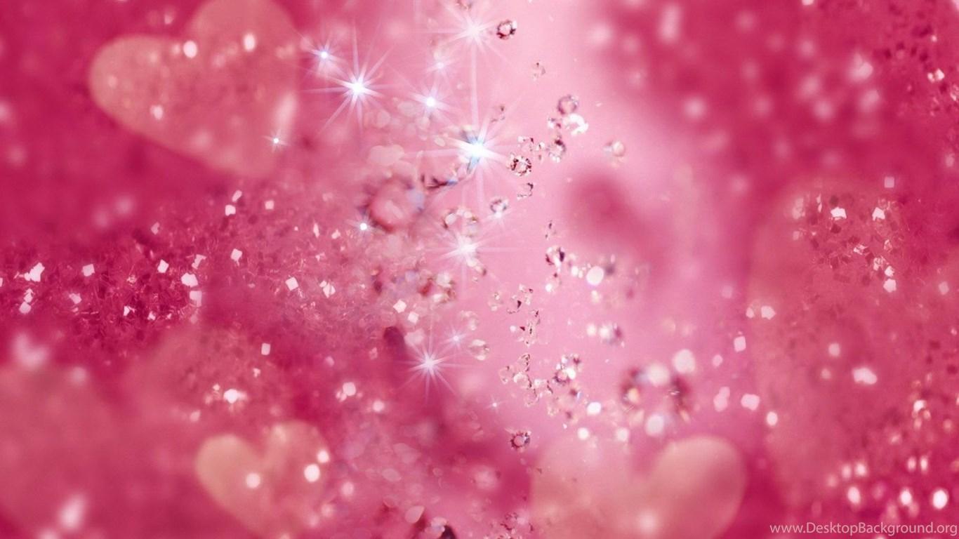 Pink Glitter Backgrounds Desktop Background