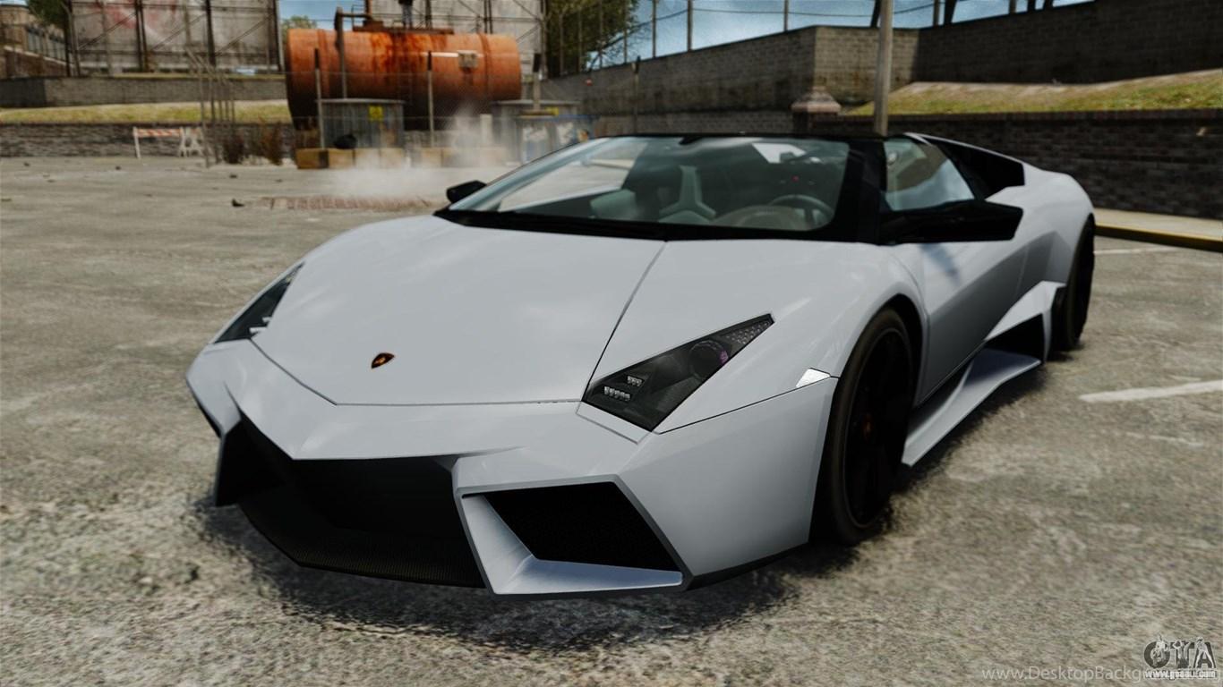 Download Great Lamborghini Reventon Roadster Back View Free Photo