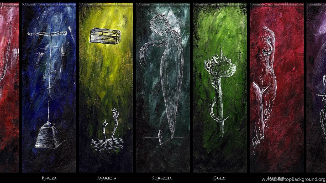 symbolism within the seven deadly sins
