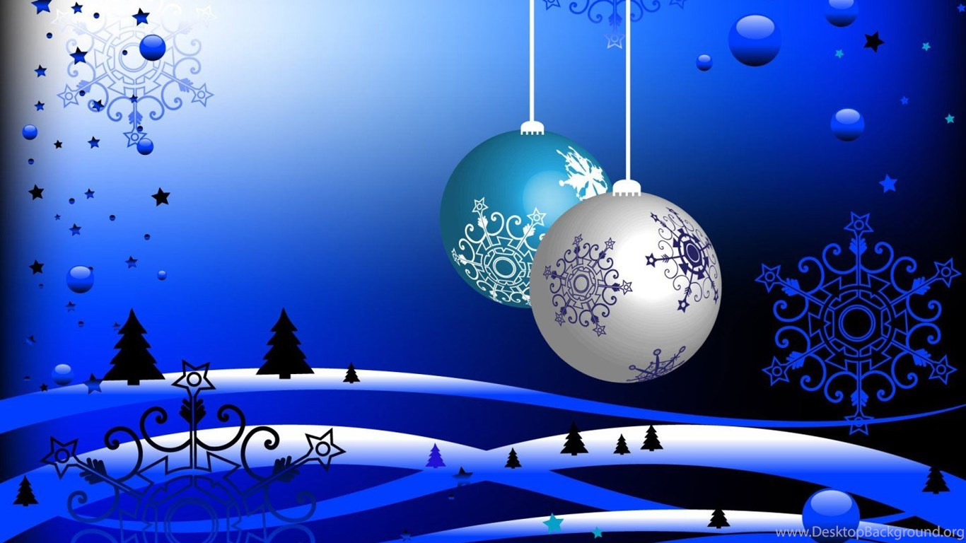 blue free christmas wallpapers and screensavers for windows 7